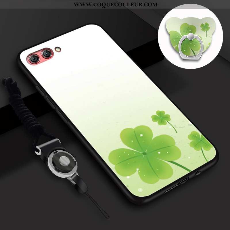 Housse Oppo A5 Fluide Doux Coque Incassable, Étui Oppo A5 Silicone Vert Verte