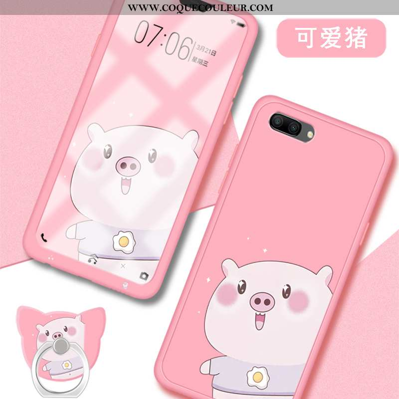 Coque Oppo A5 Fluide Doux Charmant Net Rouge, Housse Oppo A5 Silicone Membrane Rose
