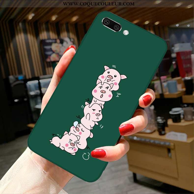 Housse Oppo A5 Charmant Fluide Doux Incassable, Étui Oppo A5 Tendance Téléphone Portable Verte