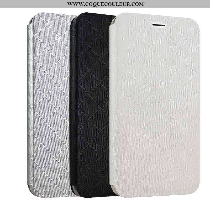 Coque Oppo A5 Cuir Blanc Housse, Housse Oppo A5 Protection Téléphone Portable Blanche
