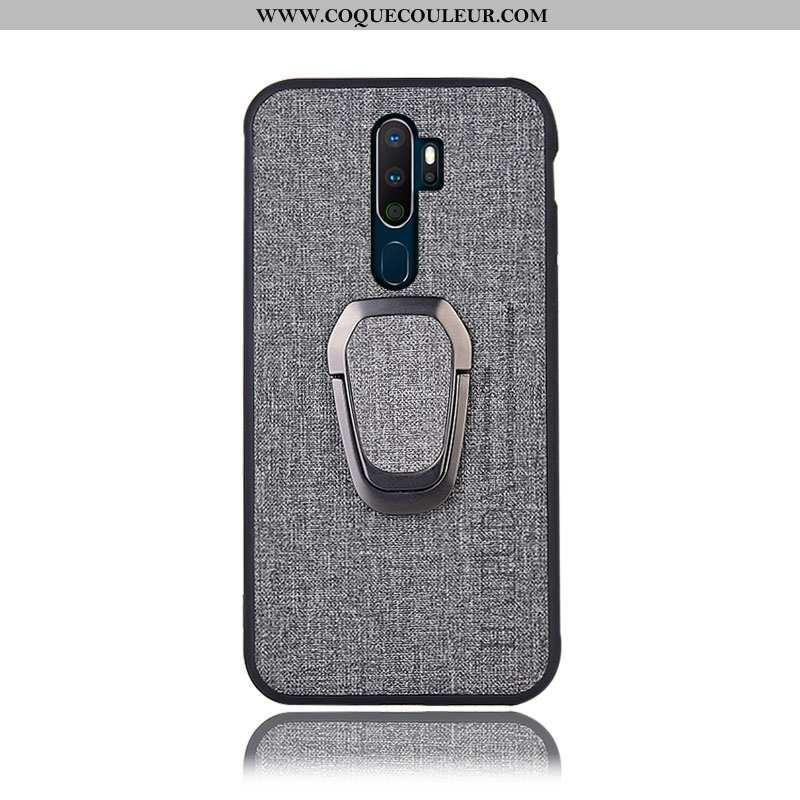 Housse Oppo A9 2020 Protection Coque Support, Étui Oppo A9 2020 Téléphone Portable Gris