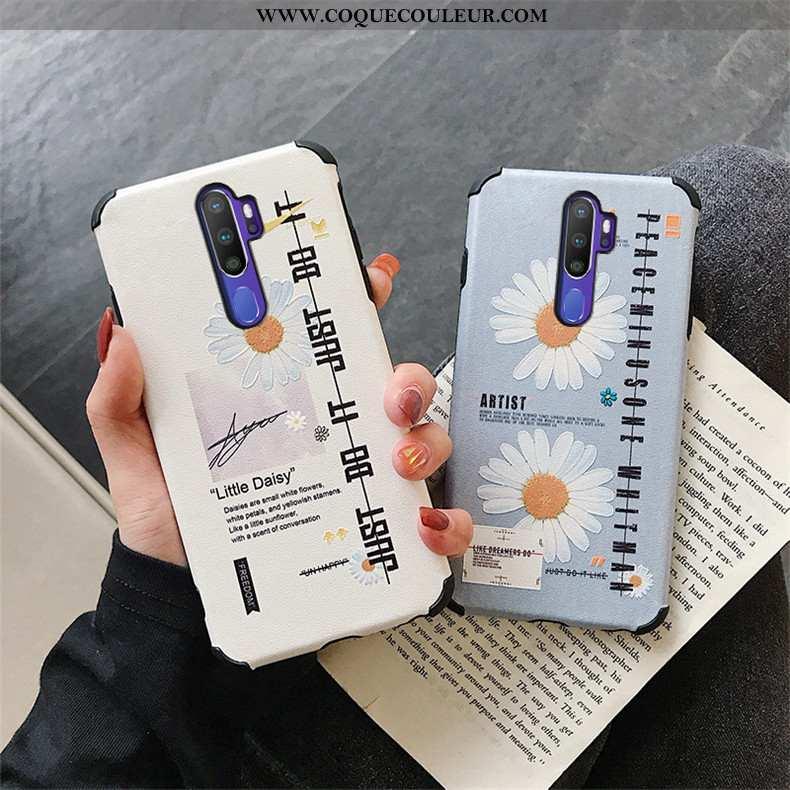Coque Oppo A9 2020 Personnalité Téléphone Portable Modèle Fleurie, Housse Oppo A9 2020 Tendance Flui