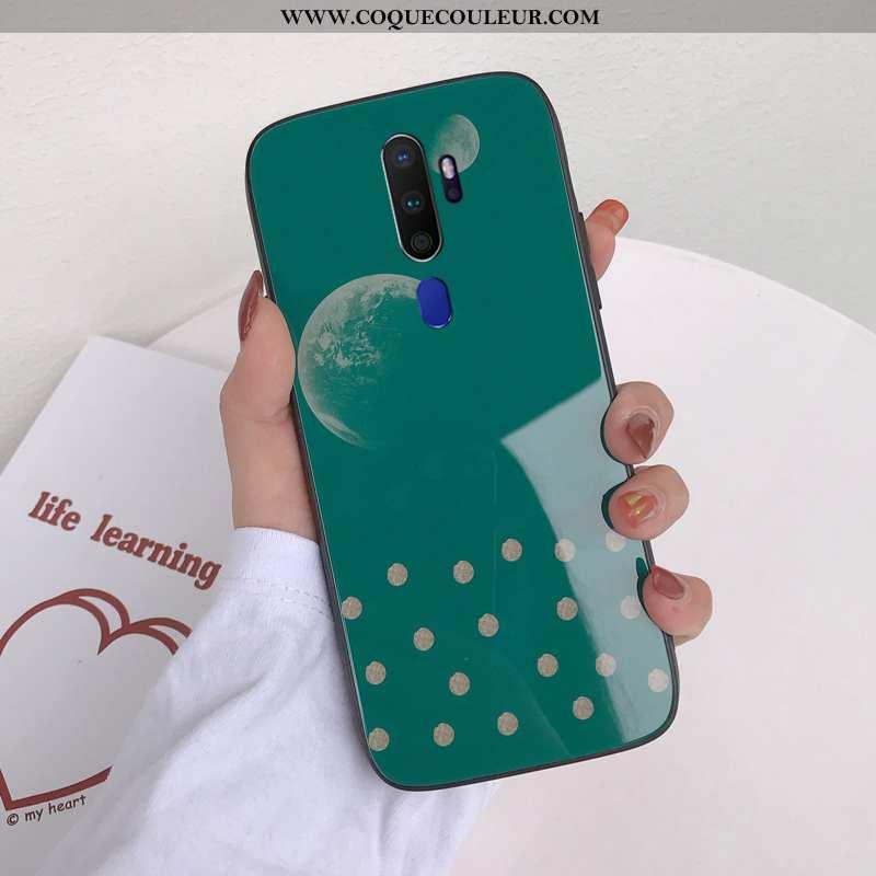 Étui Oppo A9 2020 Personnalité Support Étui, Coque Oppo A9 2020 Dessin Animé Téléphone Portable Vert