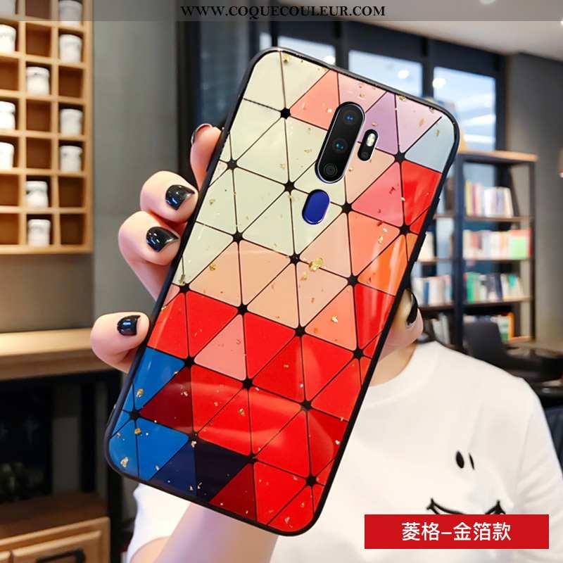 Housse Oppo A9 2020 Personnalité Multicolore Coque, Étui Oppo A9 2020 Créatif Verre Coloré