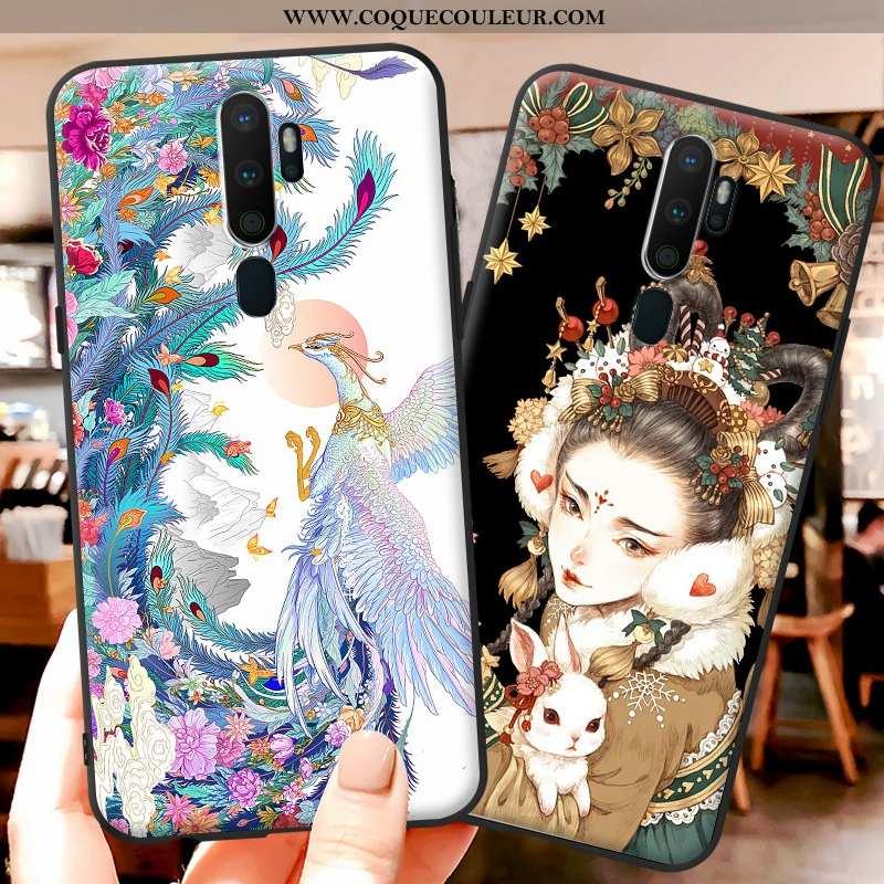 Étui Oppo A9 2020 Silicone Coque Petit, Oppo A9 2020 Protection Téléphone Portable Coloré