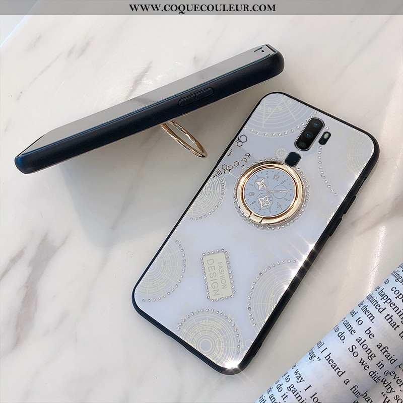 Étui Oppo A9 2020 Personnalité Support Blanc, Coque Oppo A9 2020 Tendance Téléphone Portable Blanche