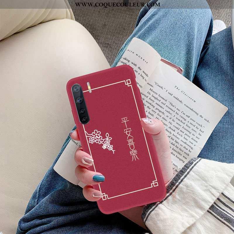 Coque Oppo A91 Silicone Créatif Téléphone Portable, Housse Oppo A91 Délavé En Daim Rouge