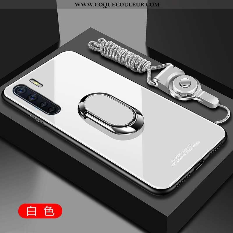 Étui Oppo A91 Protection Téléphone Portable Étui, Coque Oppo A91 Verre Blanche