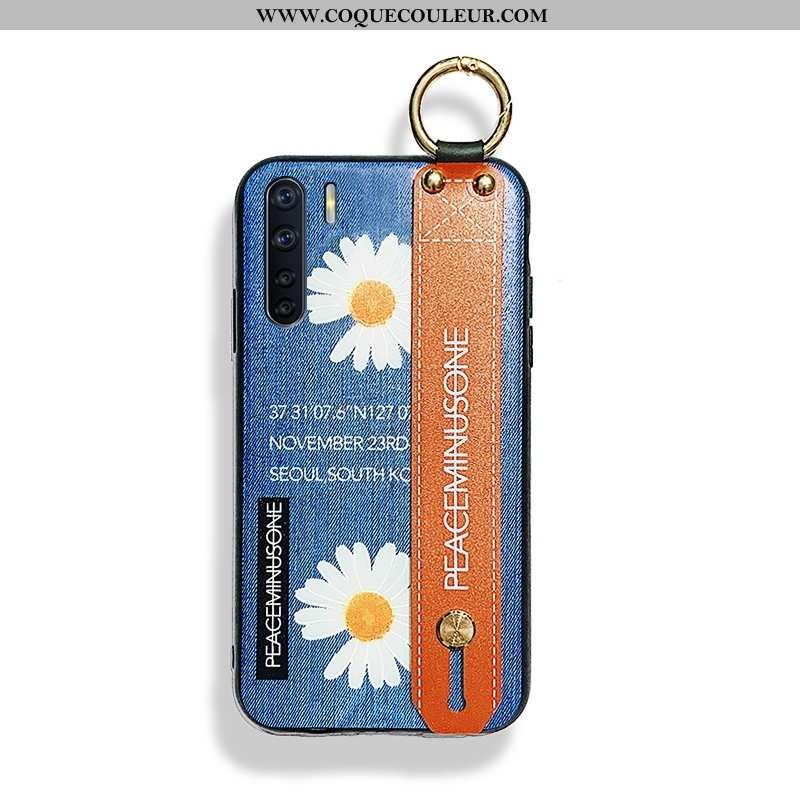 Housse Oppo A91 Tendance Téléphone Portable Personnalité, Étui Oppo A91 Modèle Fleurie Silicone Bleu
