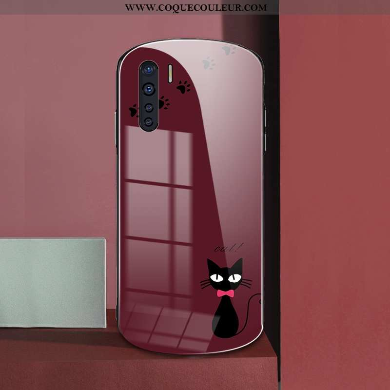 Étui Oppo A91 Silicone Rouge Personnalité, Coque Oppo A91 Protection Verre