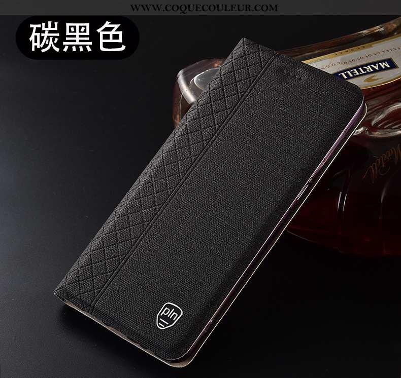 Housse Oppo A91 Cuir Étui Téléphone Portable, Oppo A91 Protection Noir