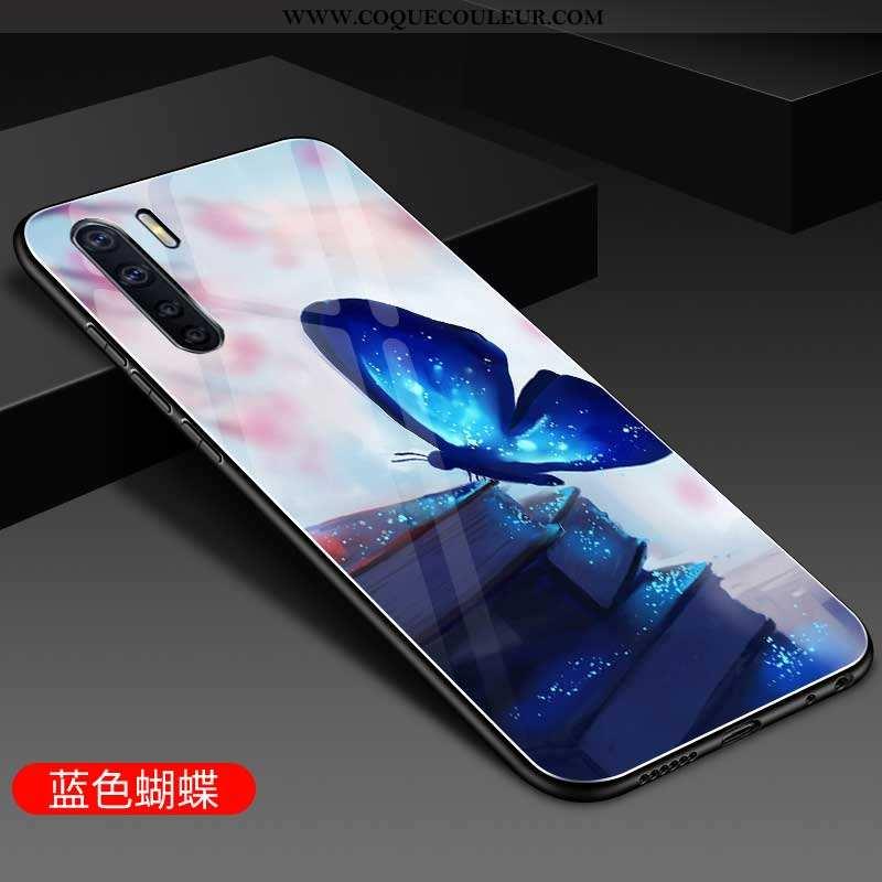 Étui Oppo A91 Personnalité Téléphone Portable Incassable, Coque Oppo A91 Silicone Bleu
