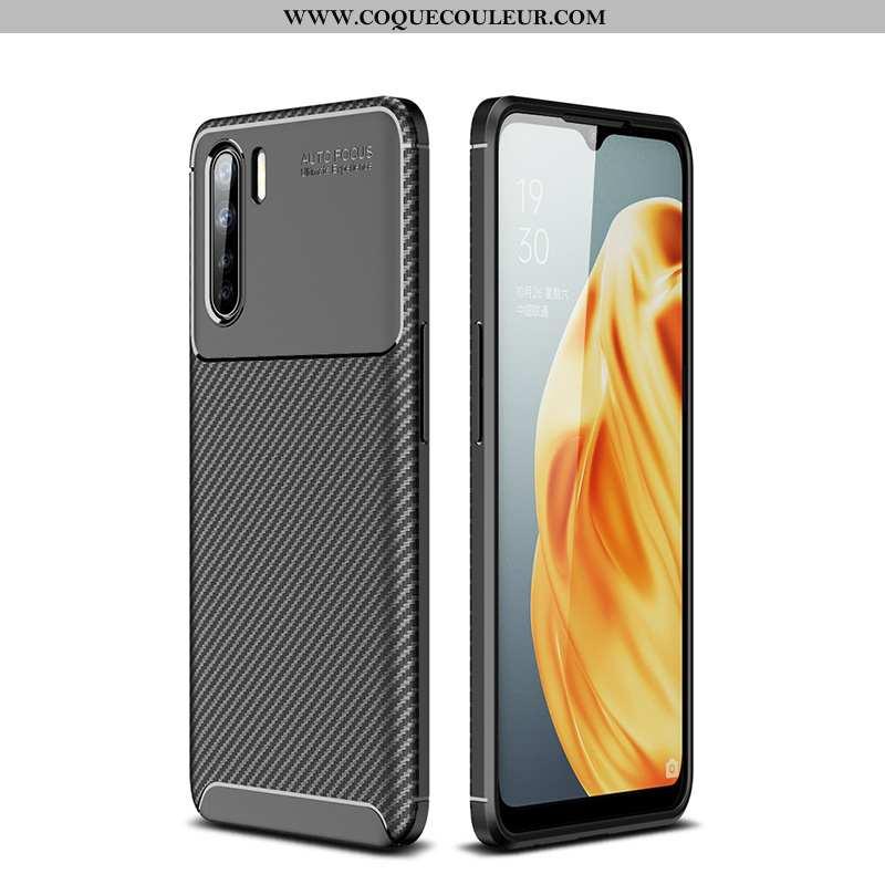 Coque Oppo A91 Personnalité Luxe Téléphone Portable, Housse Oppo A91 Fluide Doux Noir