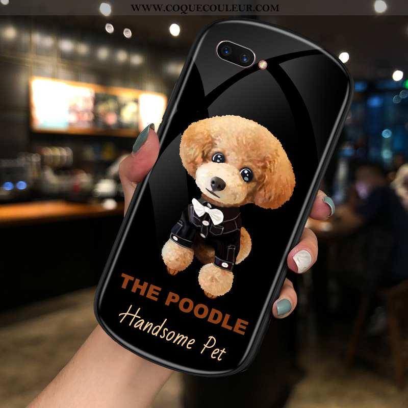 Étui Oppo Ax5 Créatif Téléphone Portable Verre, Coque Oppo Ax5 Charmant Amoureux Noir
