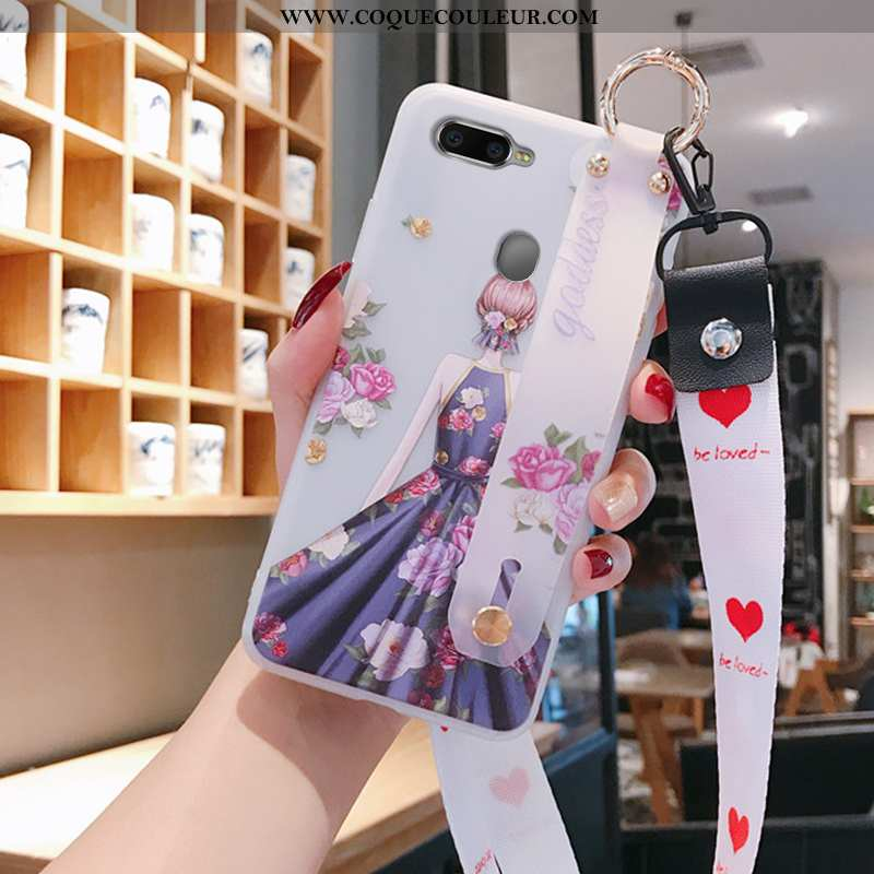 Coque Oppo Ax5 Fluide Doux Transparent, Housse Oppo Ax5 Silicone Tendance Violet