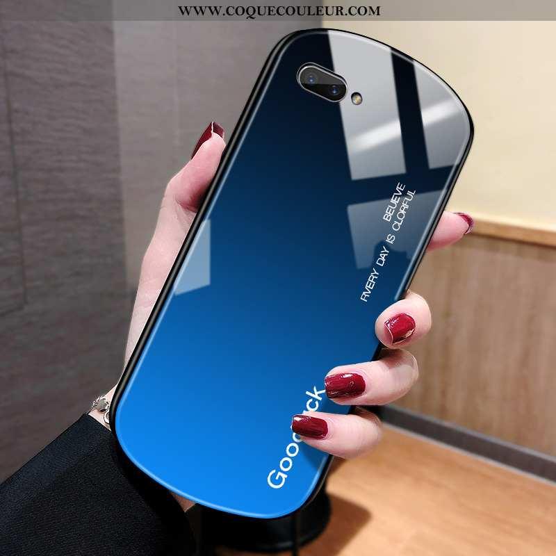 Coque Oppo Ax5 Verre Vent Incassable, Housse Oppo Ax5 Personnalité Tout Compris Bleu