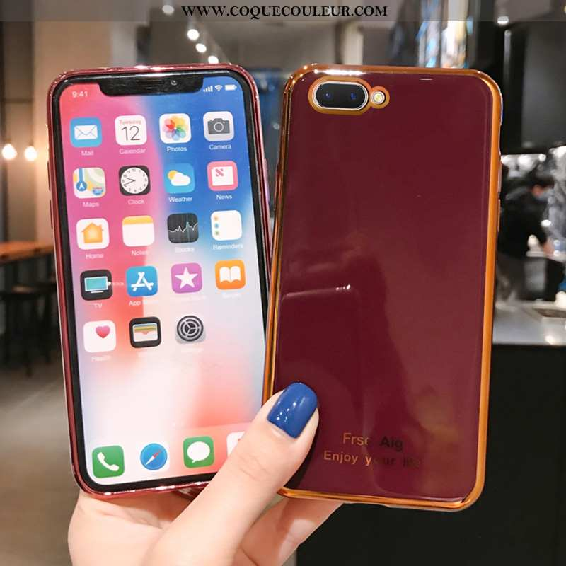 Étui Oppo Ax5 Délavé En Daim Téléphone Portable Silicone, Coque Oppo Ax5 Personnalité Créatif Bordea