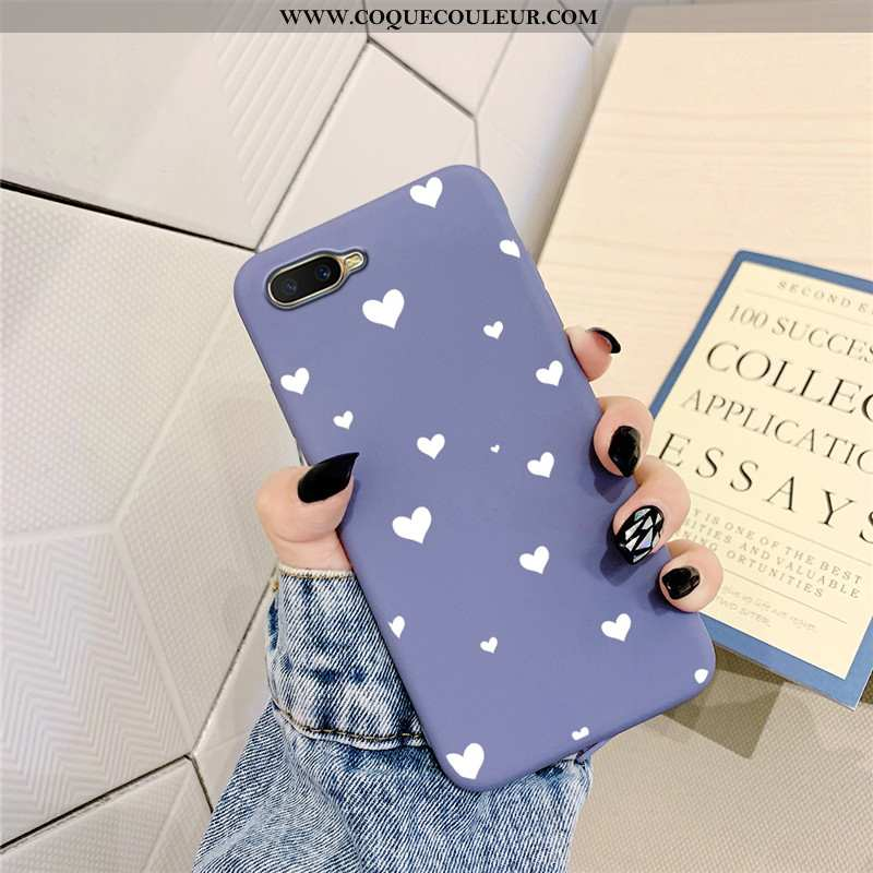 Coque Oppo Ax5 Silicone Téléphone Portable Simple, Housse Oppo Ax5 Protection Amour Violet