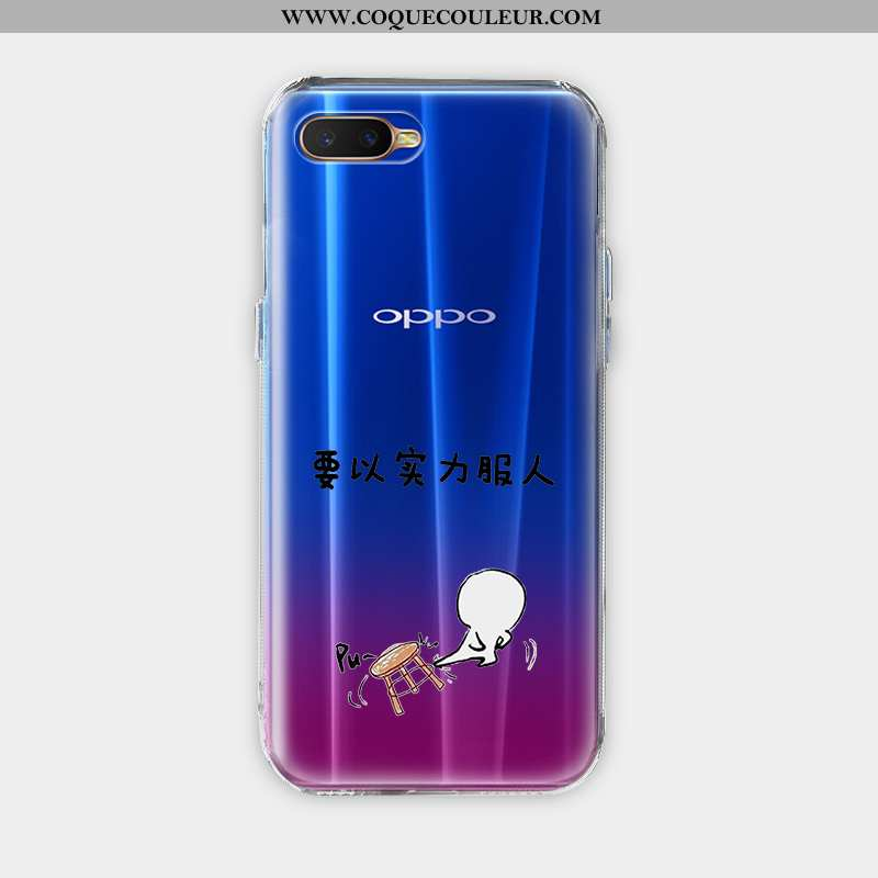 Coque Oppo Ax7 Dessin Animé Silicone Transparent, Housse Oppo Ax7 Charmant Protection Bleu