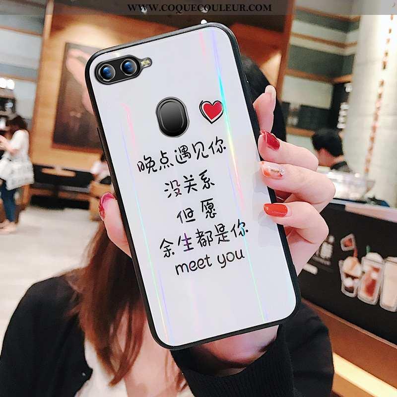 Étui Oppo Ax7 Protection Téléphone Portable Tendance, Coque Oppo Ax7 Verre Personnalité Blanche