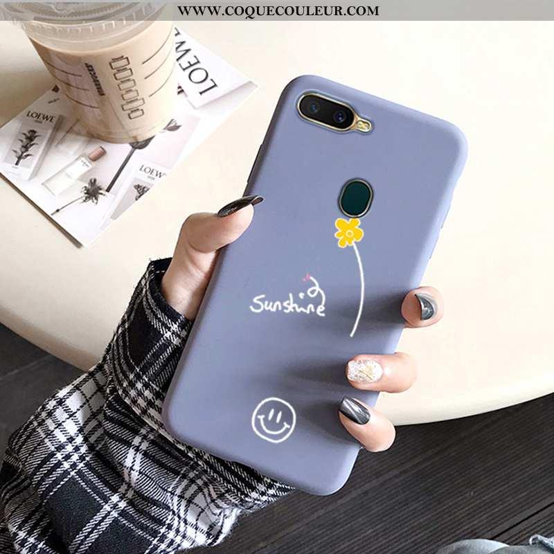 Housse Oppo Ax7 Protection Coque Incassable, Étui Oppo Ax7 Délavé En Daim Fluide Doux Bleu