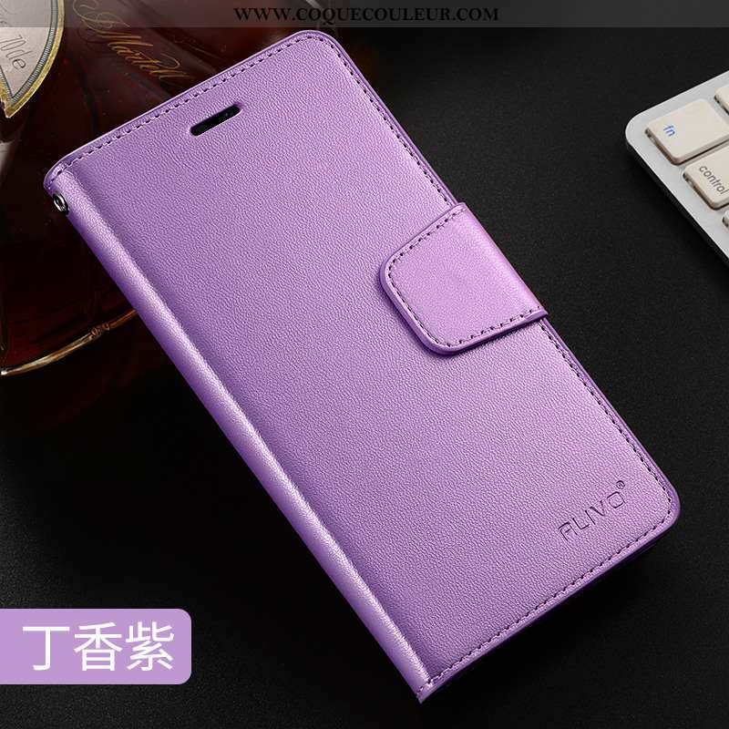 Étui Oppo Ax7 Créatif Incassable Silicone, Coque Oppo Ax7 Cuir Violet