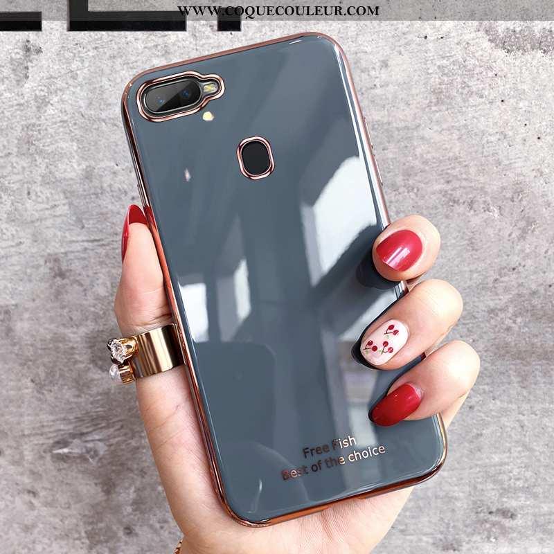 Housse Oppo Ax7 Fluide Doux Tout Compris Téléphone Portable, Étui Oppo Ax7 Silicone Protection Gris
