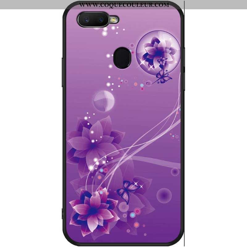 Housse Oppo Ax7 Protection Créatif Téléphone Portable, Étui Oppo Ax7 Personnalité Dessin Animé Viole