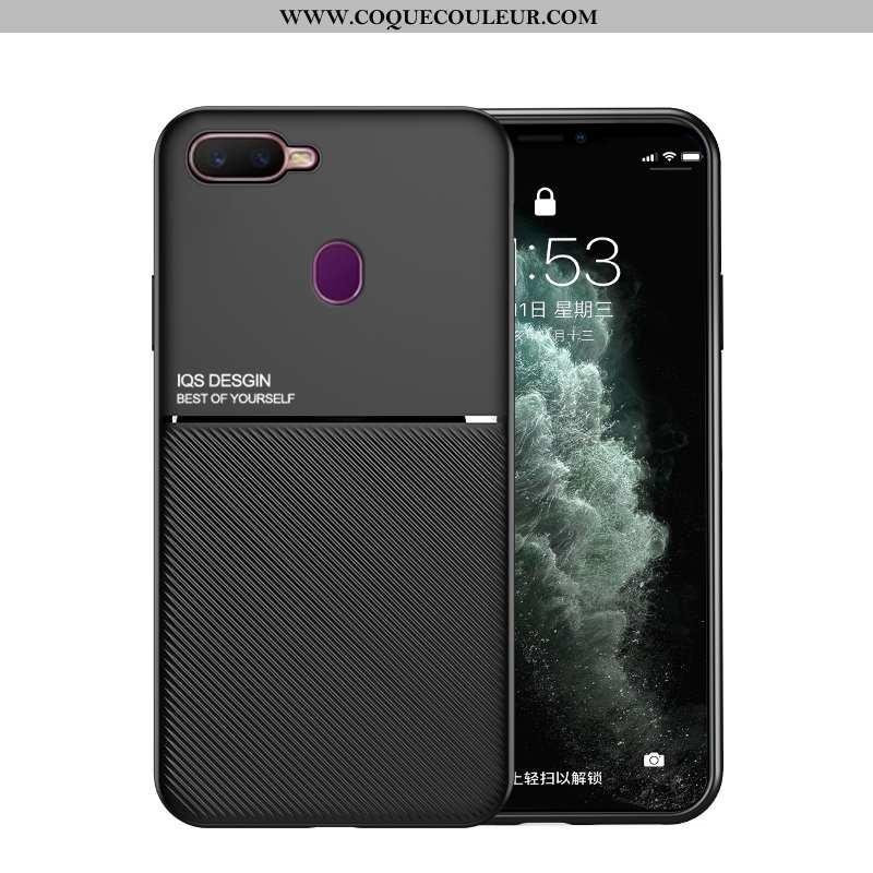 Coque Oppo Ax7 Légère Silicone Net Rouge, Housse Oppo Ax7 Cuir Téléphone Portable Noir