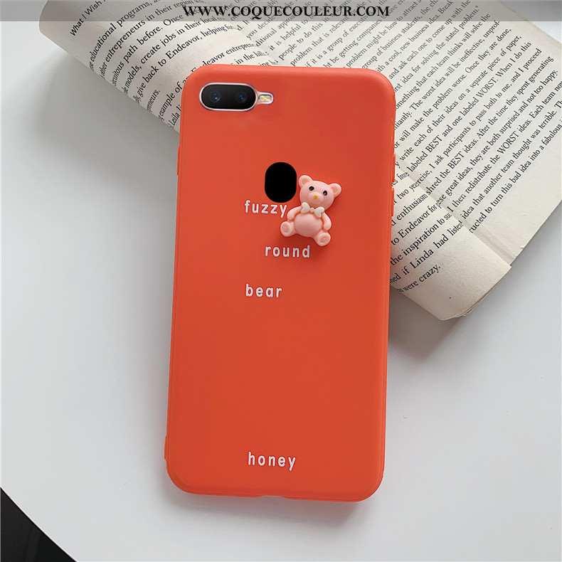 Étui Oppo Ax7 Protection Fluide Doux, Coque Oppo Ax7 Personnalité Téléphone Portable Rouge