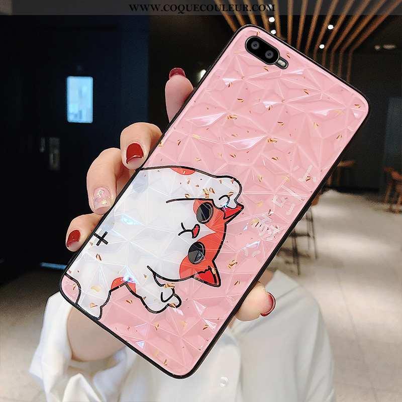 Housse Oppo Ax7 Modèle Fleurie Incassable Tendance, Étui Oppo Ax7 Charmant Téléphone Portable Rose