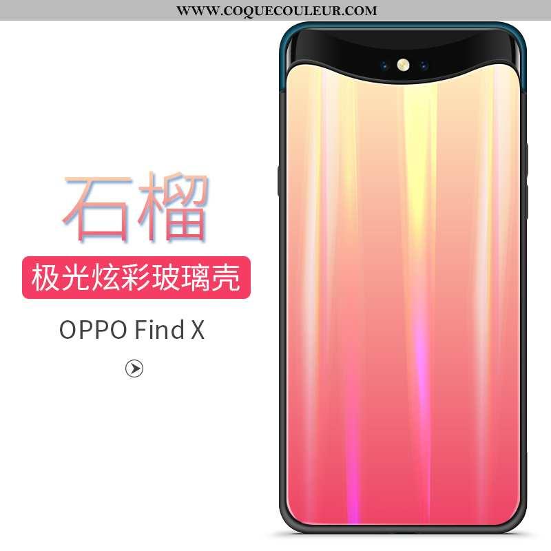 Coque Oppo Find X Tendance Téléphone Portable, Housse Oppo Find X Verre Rouge