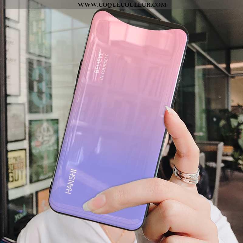 Coque Oppo Find X Tendance Téléphone Portable Incassable, Housse Oppo Find X Fluide Doux Tempérer Ro