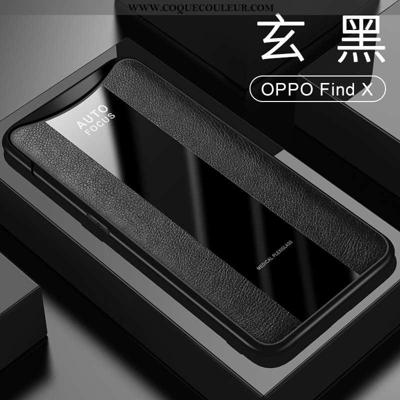 Étui Oppo Find X Protection Incassable Tout Compris, Coque Oppo Find X Cuir Business Noir