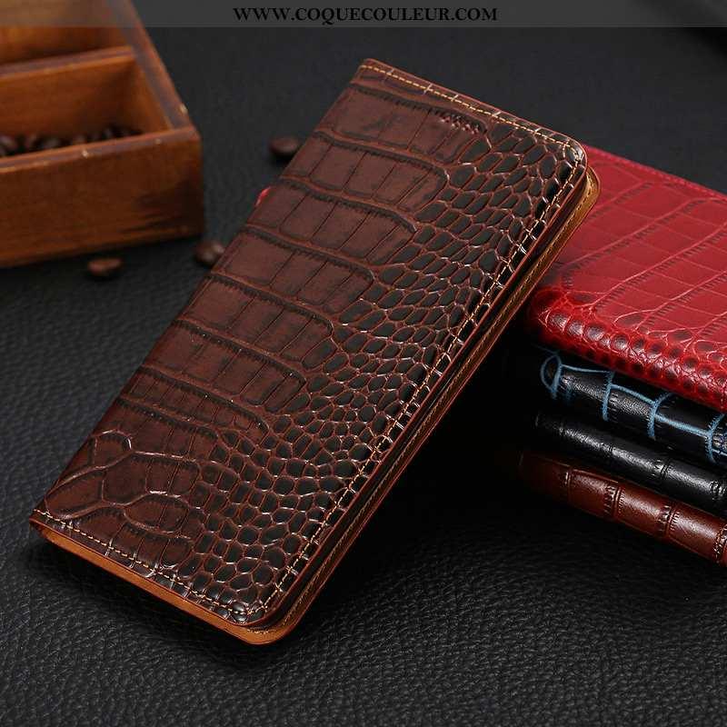 Coque Oppo Find X Protection Téléphone Portable Coque, Housse Oppo Find X Cuir Véritable Cuir Marron