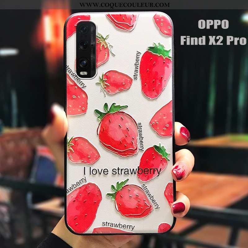 Étui Oppo Find X2 Pro Tendance Antidérapant Tout Compris, Coque Oppo Find X2 Pro Fluide Doux Rouge