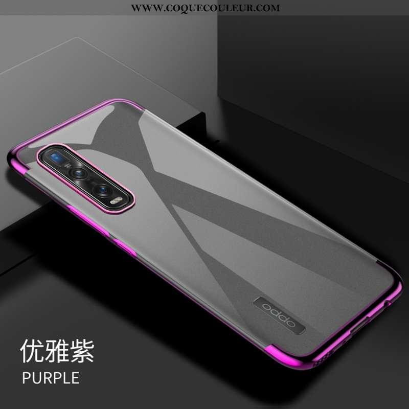 Étui Oppo Find X2 Pro Mode Violet Incassable, Coque Oppo Find X2 Pro Transparent Placage