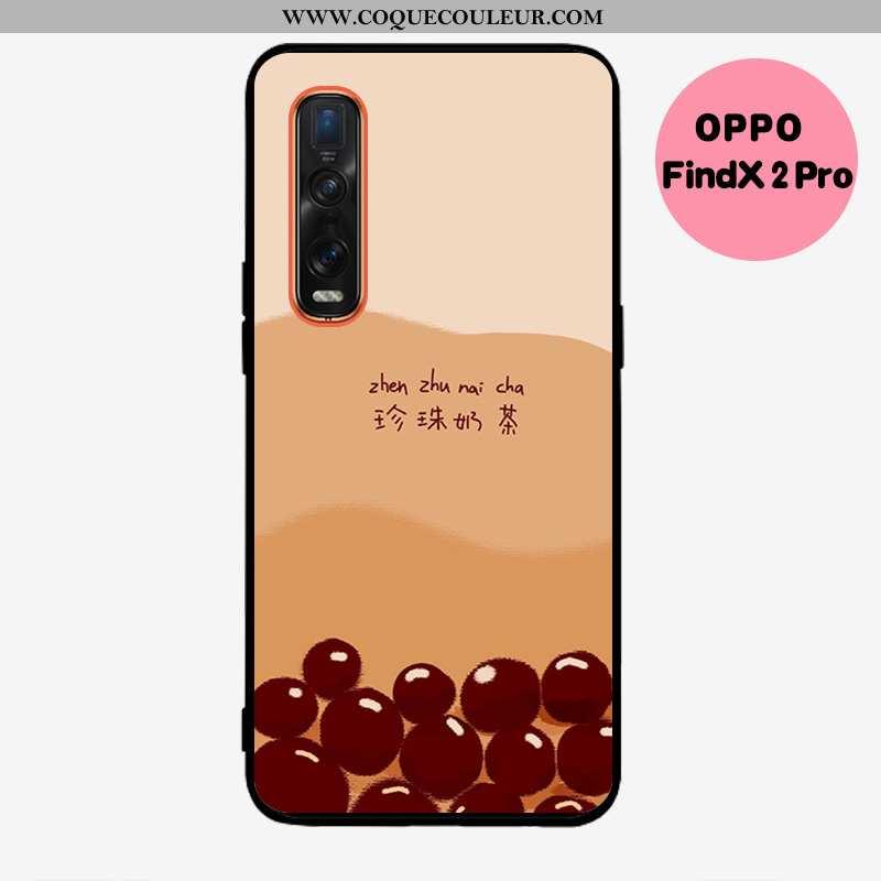 Coque Oppo Find X2 Pro Délavé En Daim Net Rouge, Housse Oppo Find X2 Pro Fluide Doux Kaki Khaki