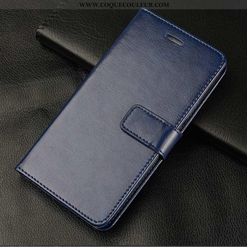 Étui Oppo Reno 3 Protection Coque Téléphone Portable, Oppo Reno 3 Cuir Bleu Foncé