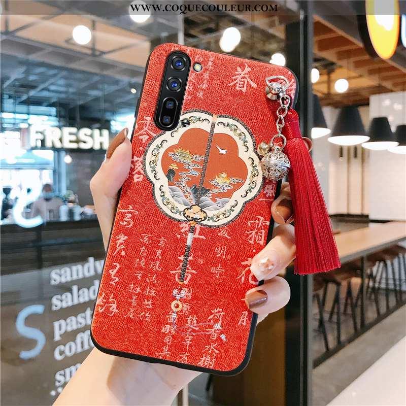Housse Oppo Reno 3 Protection Fluide Doux Téléphone Portable, Étui Oppo Reno 3 Personnalité Rouge