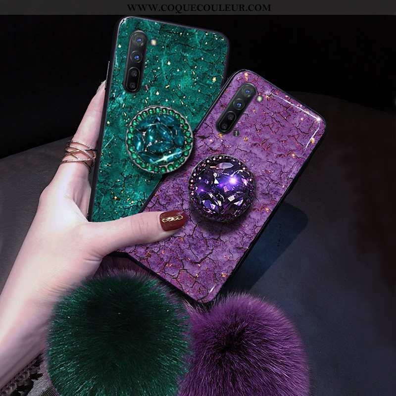 Étui Oppo Reno 3 Silicone Violet Coque, Coque Oppo Reno 3 Téléphone Portable Net Rouge