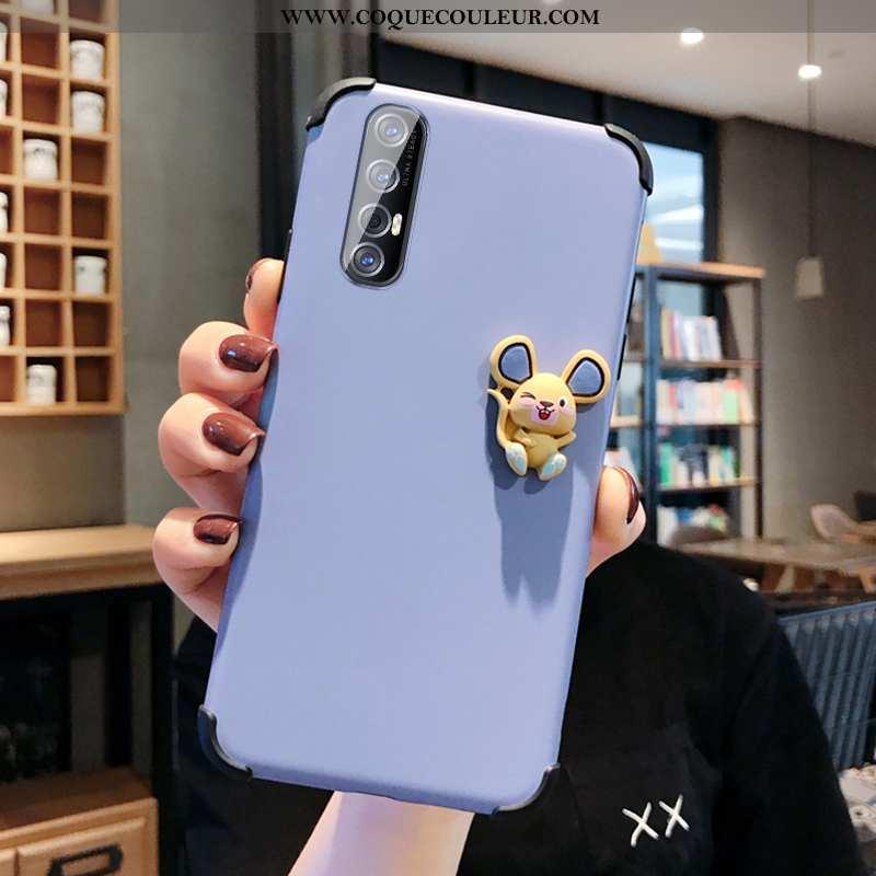 Étui Oppo Reno 3 Pro Silicone Charmant Téléphone Portable, Coque Oppo Reno 3 Pro Protection Bleu