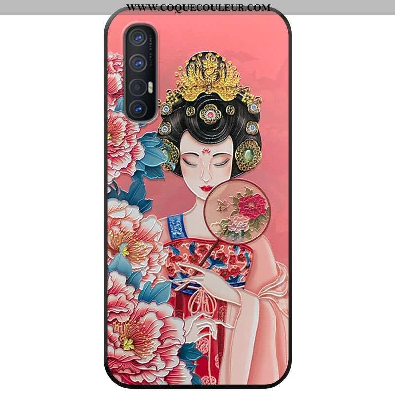 Coque Oppo Reno 3 Pro Protection Vent, Housse Oppo Reno 3 Pro Téléphone Portable À Franges Rose