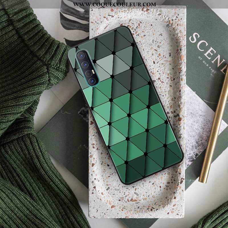 Housse Oppo Reno 3 Pro Personnalité Étui Protection, Oppo Reno 3 Pro Créatif Téléphone Portable Vert