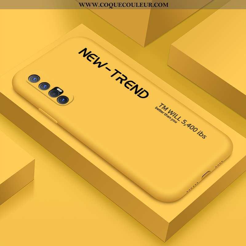 Housse Oppo Reno 3 Pro Protection Étui Silicone, Oppo Reno 3 Pro Personnalité Tout Compris Jaune