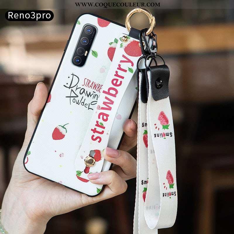 Coque Oppo Reno 3 Pro Tendance Protection Coque, Housse Oppo Reno 3 Pro Silicone Incassable Blanche