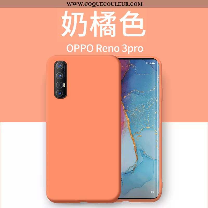 Étui Oppo Reno 3 Pro Ultra Net Rouge Étui, Coque Oppo Reno 3 Pro Légère Incassable Orange