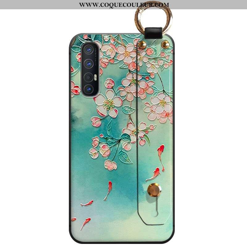 Coque Oppo Reno 3 Pro Fluide Doux À Franges Téléphone Portable, Housse Oppo Reno 3 Pro Vert Vent Ver