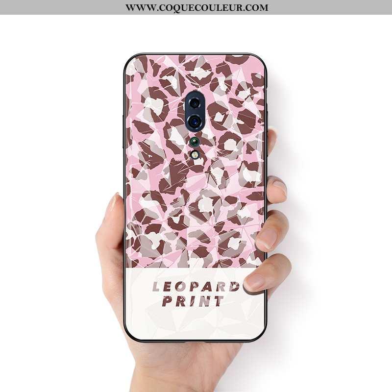 Étui Oppo Reno Z Protection Créatif Modèle Fleurie, Coque Oppo Reno Z Ornements Suspendus Rose