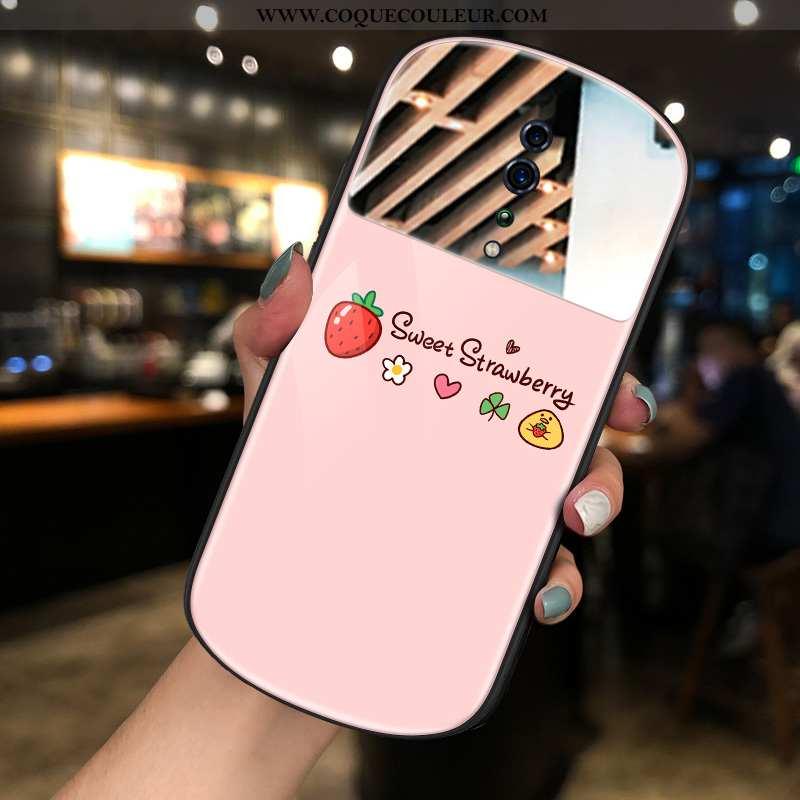 Housse Oppo Reno Z Tendance Rose Téléphone Portable, Étui Oppo Reno Z Maquillage Miroir